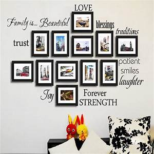 Wall decal picture frame wall decals inspiration picture for The best of family decals for walls