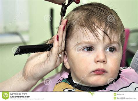 Criança Do Bebê De Um Ano Do Penteado Fotos de Stock