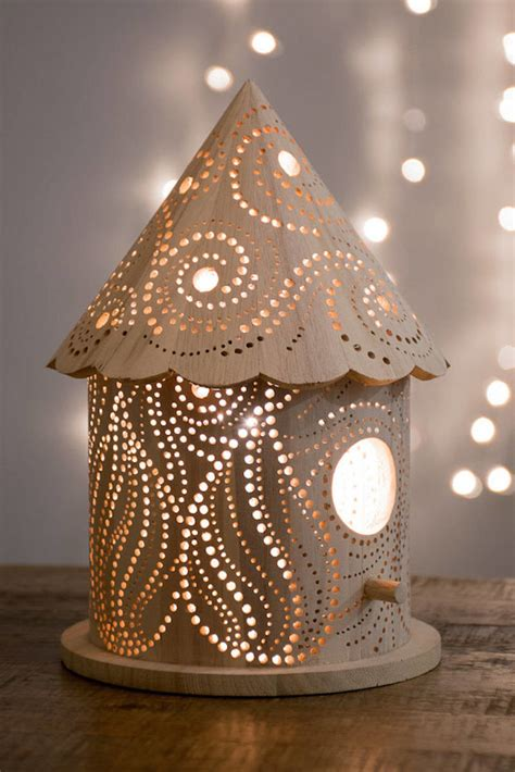 wood carved childrens lamps laser cut lamp