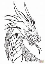 Coloring Dragon Pages Head Printable Drawing Supercoloring Colorings sketch template
