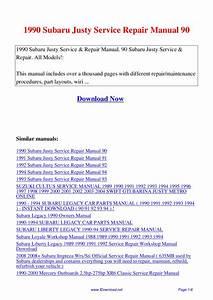 1990 Subaru Justy Service Repair Manual 90 By Giler Kong
