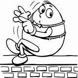 Humpty Dumpty Coloring Counting Finger Sky Coloringsky Sheets sketch template