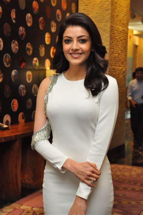 model kajal aggarwal new stills at mla film success meet actress album