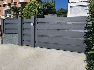 portail porte garage d39entree garde corps volets With porte de garage et barriere pvc