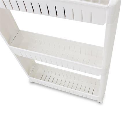 meuble de rangement pour cuisine étagère sur roulettes pour cuisine ou salle de bain