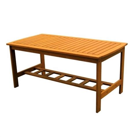 rectangular outdoor patio coffee table tt re 013