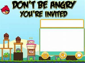 Kiefer 2013 angry birds birthday invitation by kariushky for Angry birds birthday party invitation template free
