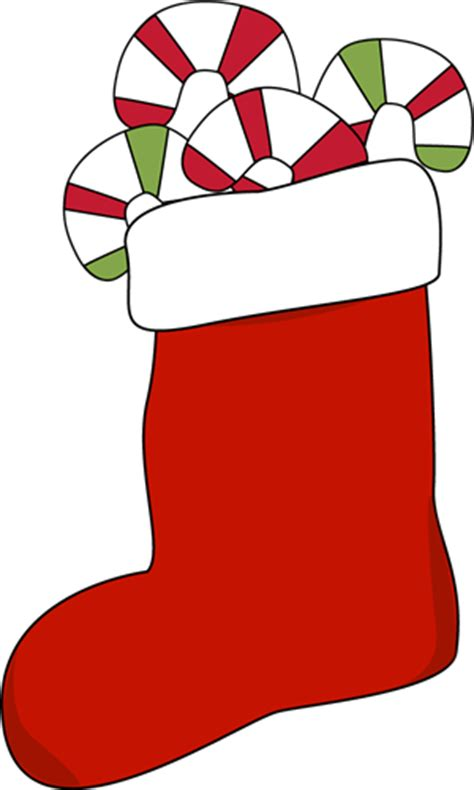 stocking filled  candy canes clip art stocking