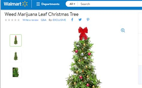 mainstream alert you can buy a weed leaf christmas tree