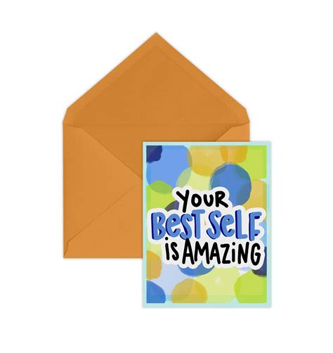 So, i'm a fan of best self. Best Self Card - Announce Divinely   Best self, Social stationery, Cards