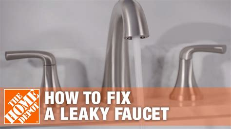fix  leaky faucet  home depot youtube