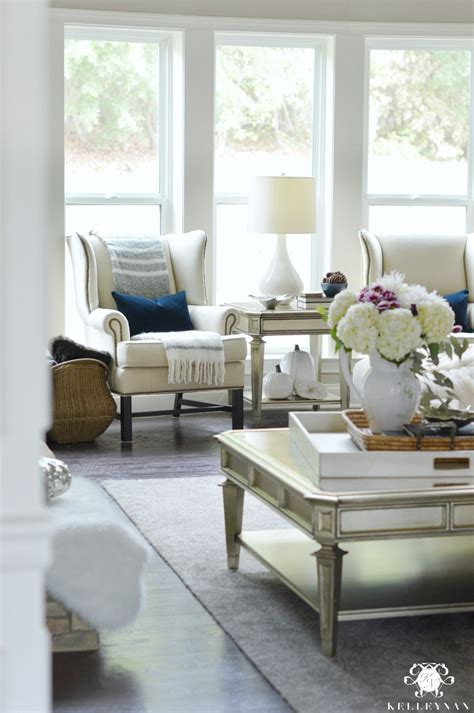 Living Room Chairs Pottery Barn by A Fall Home Tour Kelley Nan