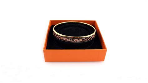 hermes enameled mosaic tile bracelet vintage bangle