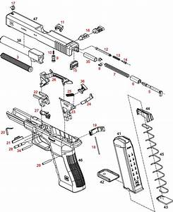 glock 34 35 individual parts with schematic With glock 22 diagram