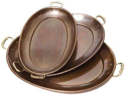 amazoncom  dutch decor antique copper oval tray