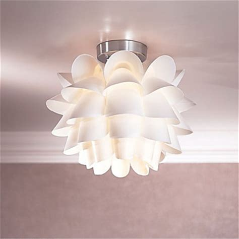 white flower ceiling light 1 light pendant living room