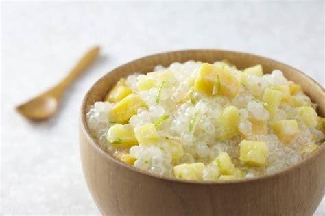 dessert ananas lait de coco recette de perles de tapioca au lait de coco et fruits