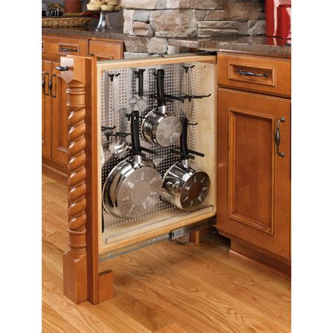 rv kitchen cabinet organizers rev a shelf kitchen desk or vanity base cabinet pullout 5033
