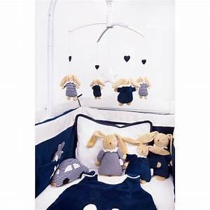 Tour De Lit Bleu Marine : tour de lit b b ange lapin bleu marine trousselier ~ Teatrodelosmanantiales.com Idées de Décoration