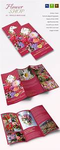 Word Template Brochure Tri Fold Gorgeous A3 Tri Fold Flower Shop Brochure Template Free