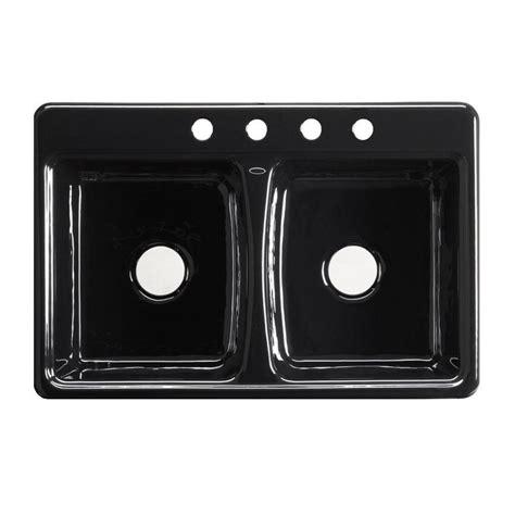 Black Kitchen Sink Home Depot by Cast Iron Sinks Kitchen Sinks The Home Depot