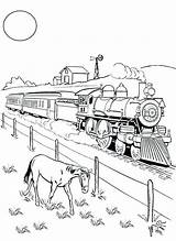 Coloring Trains Steam Railroad Train Pages Freight Engine Drawing Horse Eating Beside Printable Colorluna Getcolorings Drawings Enregistree Depuis 300px 09kb sketch template