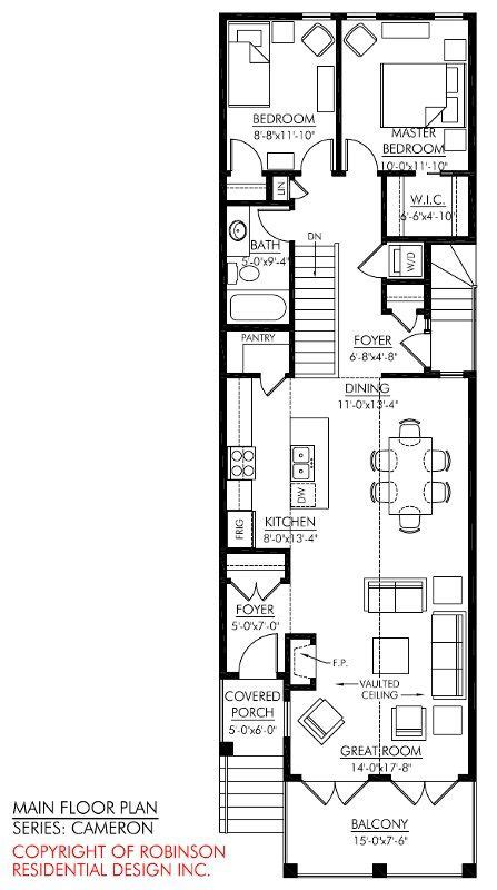 storey narrow house plans google search  images narrow house plans