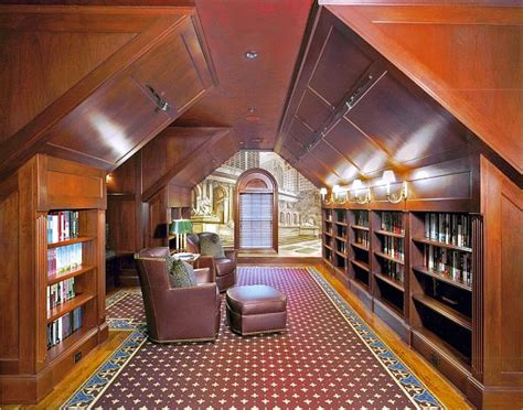 attic library design attic space makeovers how to raise the standards