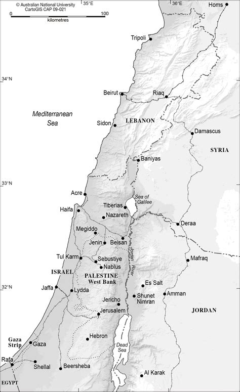 Palestine And Surrounding Countries Cartogis Services