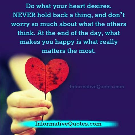 What Your Heart Desires Quotes