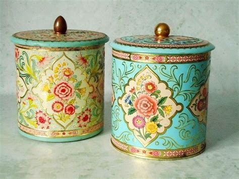 tin kitchen canisters vintage floral tin storage canisters vintage canisters