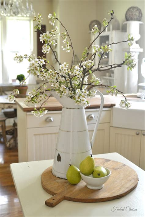 Country Kitchen Table Centerpiece Ideas by Faded Charm