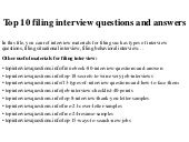Records Clerk Questions And Answers by Top 10 Filing Clerk Questions And Answers