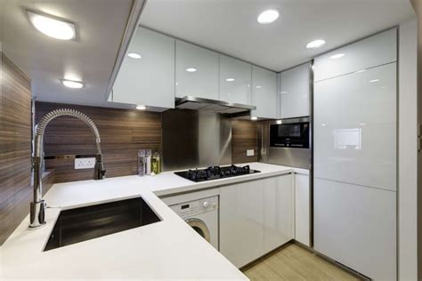 kitchen sink hong kong modern small warm apartment contemporary kitchen 5827