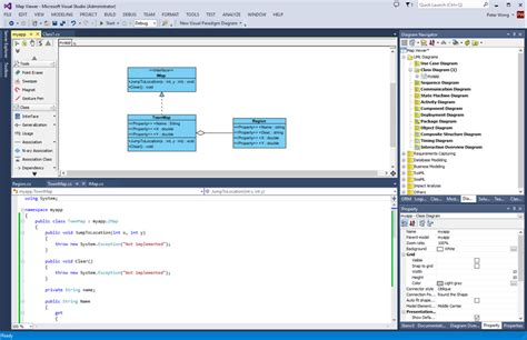 generating  source  uml class diagram  visual studio
