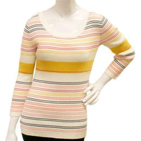 Womens Gold Metallic Sweater Ebay