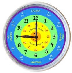 learn to tell time what the time clock by 25cm ebay - Clock Learn