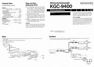 Kenwood Kgc-9400 Owner U0026 39 S Manual