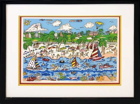 Charles Fazzino Sun And Fun Print For Sale At 1stdibs