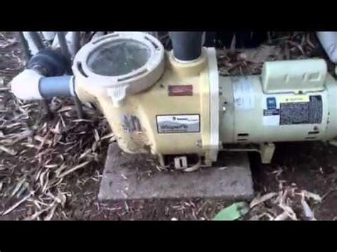 Pentair Whisperflo Pool Pump That Needs Bearings Youtube