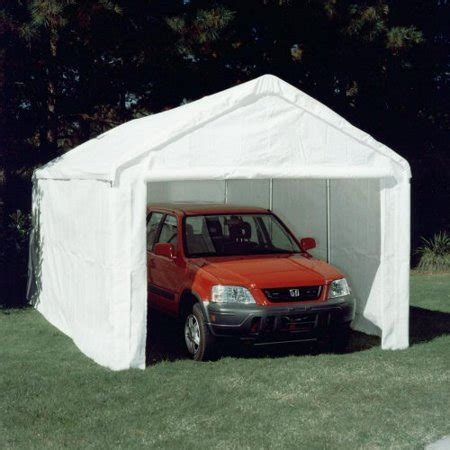 10x20 car king canopy 10 x 20 ft hercules enclosed canopy carport
