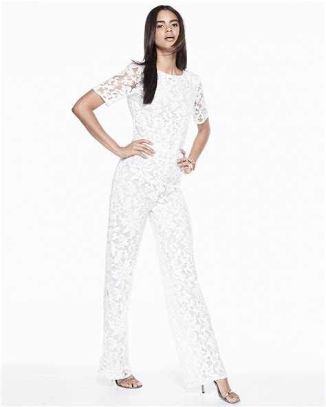 lace jumpsuit white diane furstenberg kendra floral lace jumpsuit in white