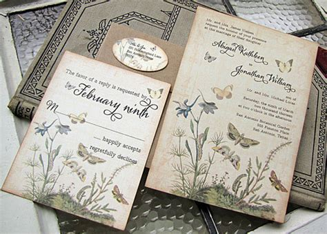 fabulous vintage wedding invitations