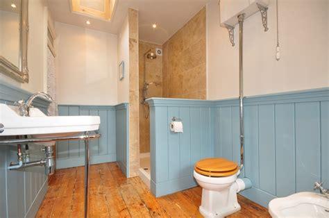 Blue Beige Bathroom Ideas by Panelled Walls Design Ideas Photos Inspiration