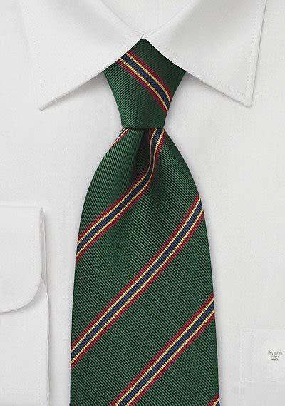 british regimental tie  dark green  red gold