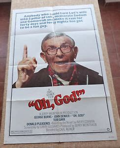 Your walls are a reflection of your personality, so let them speak with your favorite quotes, art, or designs printed on our custom posters! Oh, God! Movie Poster, Original, Folded, One Sheet, year 1977, John Denver, USA | eBay