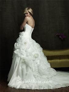 princess ball gown strapless puffy organza wedding dress With puffy princess wedding dresses