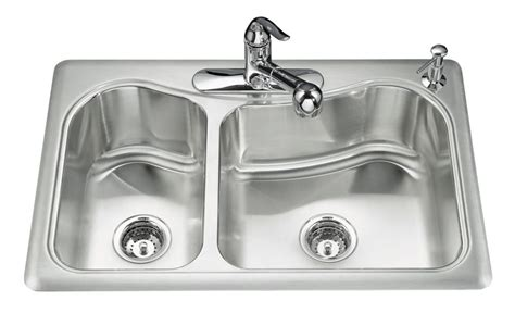 kohler staccato kitchen sink kohler staccato tm large medium self kitchen sink 6700