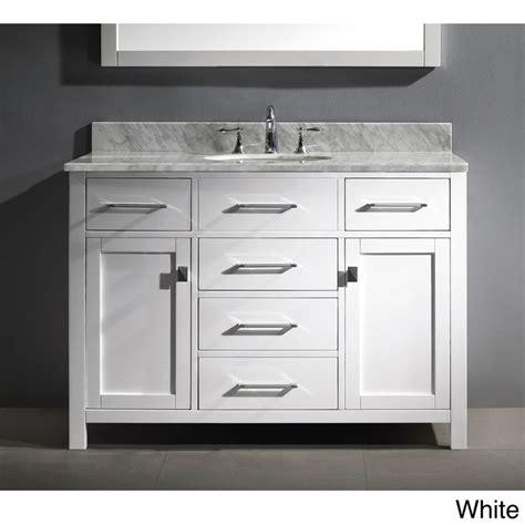 virtu usa caroline 48 inch single sink bathroom vanity set