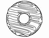 Donut Pages Coloring Template Frosting sketch template